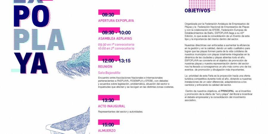 EXPOPLAYA 2019,Programa de Actividades de la XLIII Edicion. 8 de Marzo