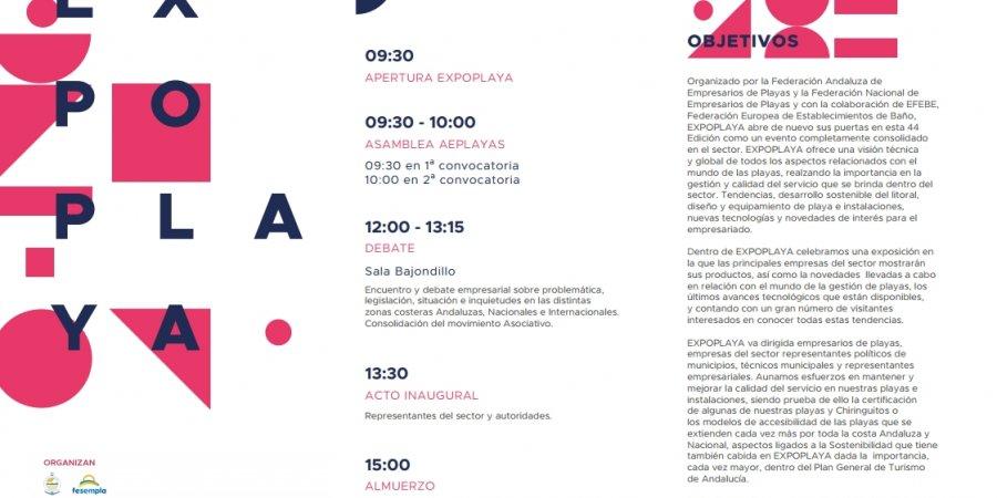 EXPOPLAYA 2020, PROGRAMA DE ACTIVIDADES